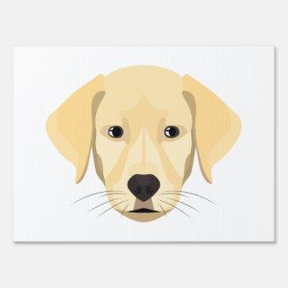 Illustration Puppy Golden Retriver Sign