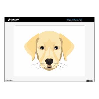 Illustration Puppy Golden Retriver Skins For Acer Chromebook