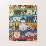 "Illustration seamless pattern colorful dogs jigsaw puzzle<br><div class=""desc"">Illustration seamless pattern happy dogs - This seamless pattern is perfect for fans of dogs. The graphic shows many colorful dogs.</div>"