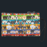 """Illustration seamless pattern colorful dogs suede wristlet<br><div class=""""desc"""">Illustration seamless pattern happy dogs - This seamless pattern is perfect for fans of dogs. The graphic shows many colorful dogs.</div>"""