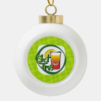 "Illustration Shot with lemon ""Shot Time"" Ceramic Ball Christmas Ornament"