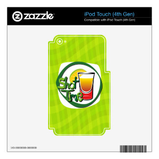 """Illustration Shot with lemon """"Shot Time"""" Decal For iPod Touch 4G"""