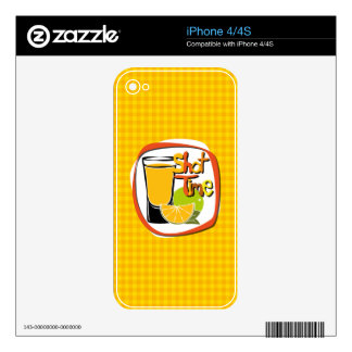 """Illustration Shot with lemon """"Shot Time"""" iPhone 4S Decal"""