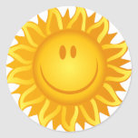 Illustration Smiling Sun Sticker