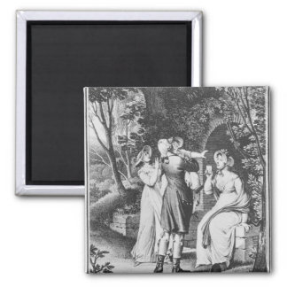 Illustration 'The Sorrows of Werther' by Fridge Magnets
