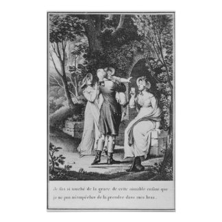 Illustration 'The Sorrows of Werther' by Poster