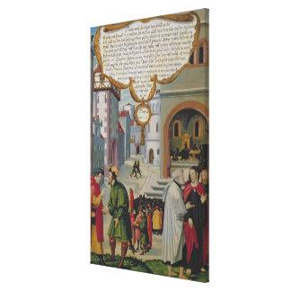 Illustration to Christ's teaching Canvas Print