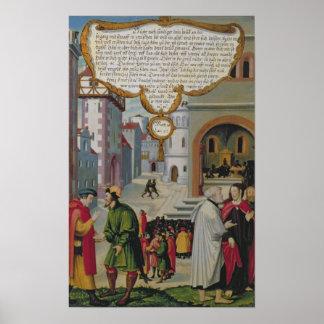 Illustration to Christ's teaching Poster
