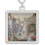 Illustration to Christ's teaching Silver Plated Necklace