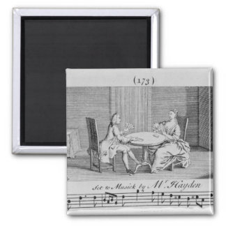 Illustration to Sheet Music by Joseph Haydn Magnet