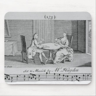 Illustration to Sheet Music by Joseph Haydn Mousepads