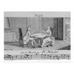 Illustration to Sheet Music by Joseph Haydn Post Cards