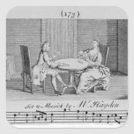 Illustration to Sheet Music by Joseph Haydn Square Stickers