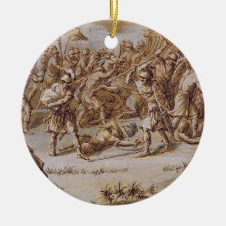 Illustration to 'The Iliad', 1760s (pen & ink, was Ceramic Ornament