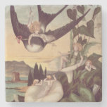 Illustration to 'Thumbkinetta', by Hans Christian Stone Beverage Coaster
