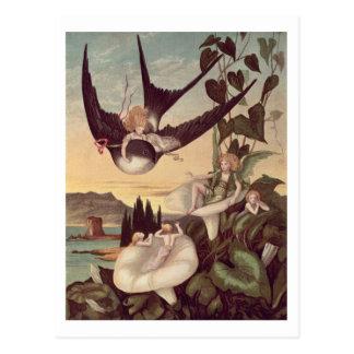 Illustration to 'Thumbkinetta', by Hans Christian Postcard