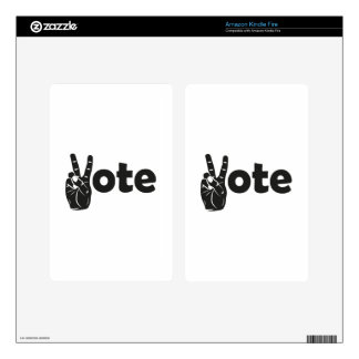 Illustration Vote for Peace Decals For Kindle Fire