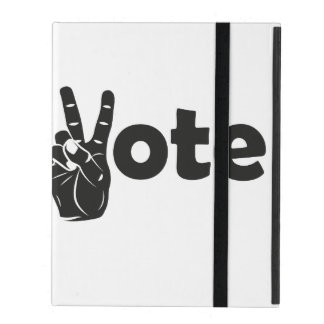Illustration Vote for Peace iPad Folio Case