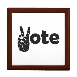 Illustration Vote for Peace Keepsake Box