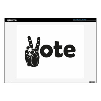 Illustration Vote for Peace Laptop Decal