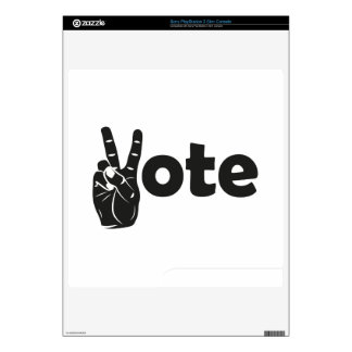 Illustration Vote for Peace PS3 Slim Console Decal