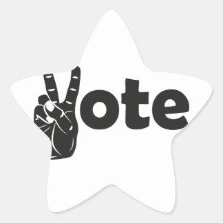 Illustration Vote for Peace Star Sticker