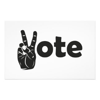 Illustration Vote for Peace Stationery