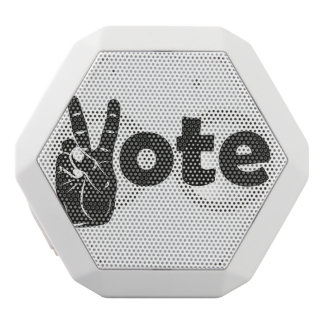 Illustration Vote for Peace White Bluetooth Speaker