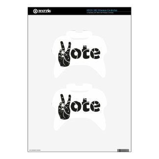 Illustration Vote for Peace Xbox 360 Controller Decal