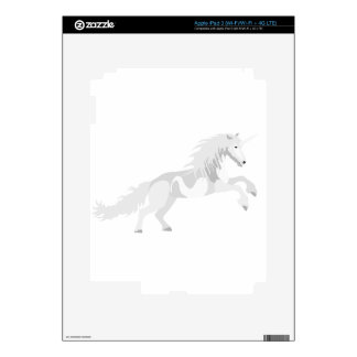 Illustration White Unicorn Decal For iPad 3