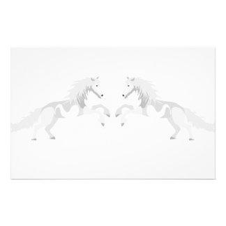 Illustration White Unicorn Stationery