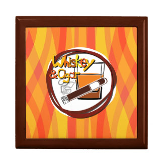 Illustration Wiskey and Cigar Gift Box