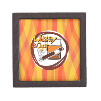 Illustration Wiskey and Cigar Jewelry Box