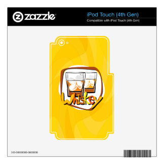 Illustration Wiskey on Ice iPod Touch 4G Decal