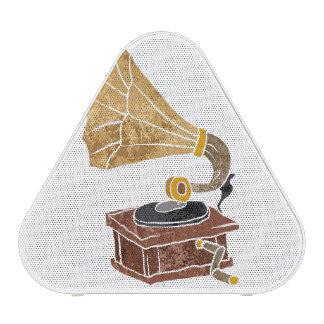 illustration with gramophone speaker
