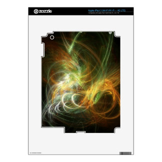 illustration with high detail and vibrant colors decal for iPad 3