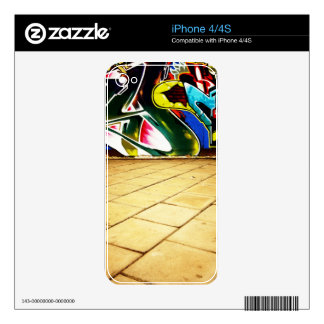 illustration with high detail and vibrant colors decals for iPhone 4S