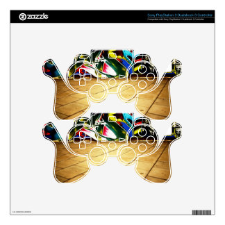 illustration with high detail and vibrant colors PS3 controller skin