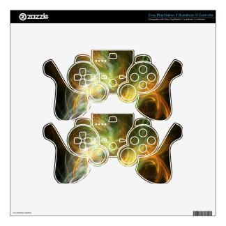 illustration with high detail and vibrant colors skin for PS3 controller