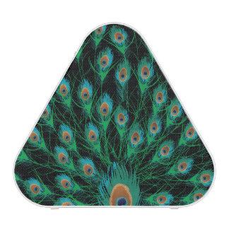 Illustration With Peacock Feathers on Black Bluetooth Speaker