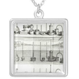 Illustrationfrom 'Traite de la Pesanteur de Silver Plated Necklace
