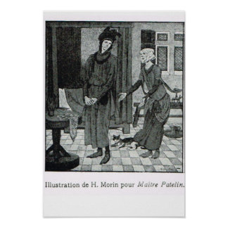Illustrations by H Morin for French book Poster