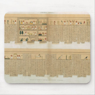 Illustrations of a Pampus manuscript with hierogly Mouse Pad