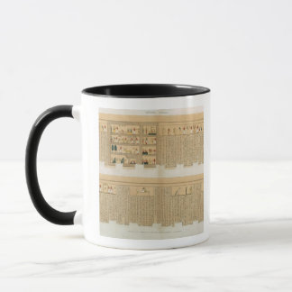 Illustrations of a Pampus manuscript with hierogly Mug