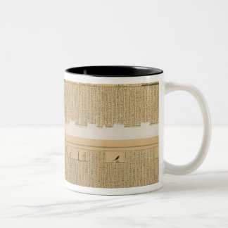 Illustrations of a Pampus manuscript with hierogly Two-Tone Coffee Mug