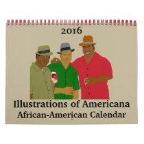 Illustrations of Americana African-American Calendar