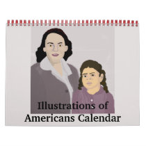 Illustrations of Americans Calendar