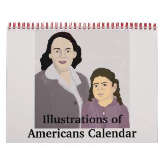 Illustrations of Americans Calendar