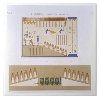 Illustrations of frescos from Byban el Molouk, The Ceramic Tile