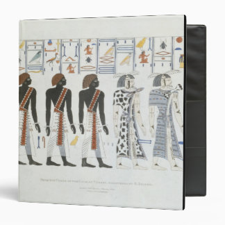 Illustrations of hieroglyphics from the Tombs of t 3 Ring Binder
